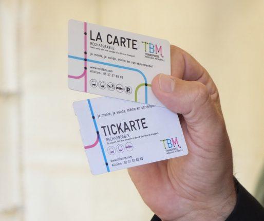 Les futures Tickarte et carte d'abonnement TBM (SB/Rue89 Bordeaux)