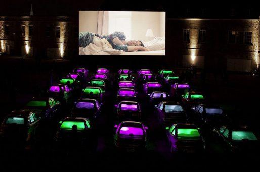 """L'installation """"drive in"""" des Québécois Mathieu Doyon et Simon Rivest (DR)"""