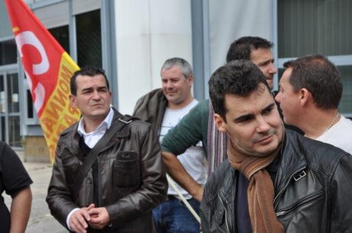 Réintégré, Stéphane Lalanne (à droite) peut se tourner vers l'avenir (Xavier Ridon/Rue89 Bordeaux)