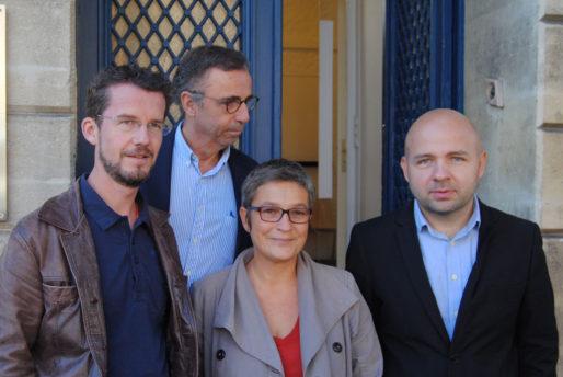 Les élus d'opposition PS et EELV du Conseil municipal de Bordeaux (WS/Rue89 Bordeaux)
