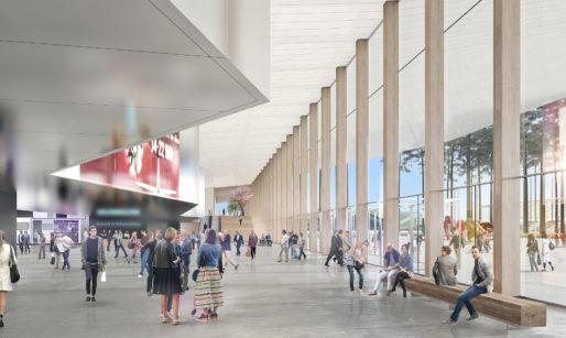 Le hall d'entrée Est du parc des Expos (Sarl Arsene Henry Triaud/Agence Brochet Lajus Pueyo)