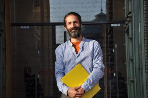 Alexandre Mahfoudi, l'un des occupants du projet de construction du golf de Villenave d'Ornon (XR/Rue89 Bordeaux)