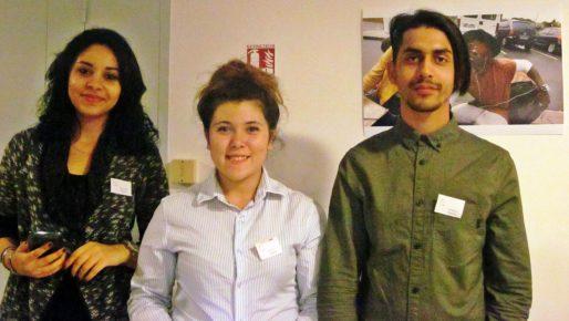 Des élèves de l'Ecole de la deuxième chance, lors de l'inauguration, le 4 novembre (AC/Rue89 Bordeaux)