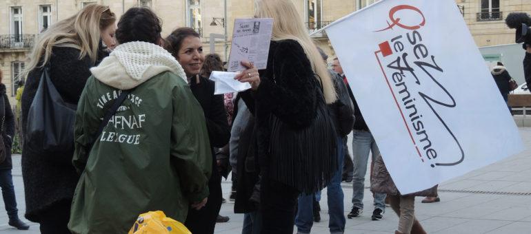 A 16h34, des Bordelaises ont dénoncé les inégalités salariales