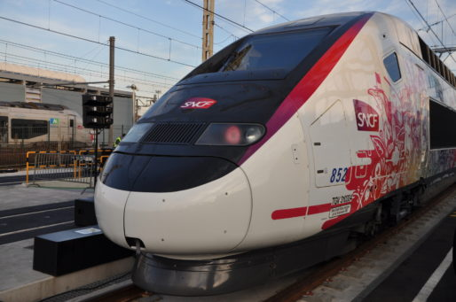 Nez du nouveau TGV l'Océane (XR/Rue89 Bordeaux)