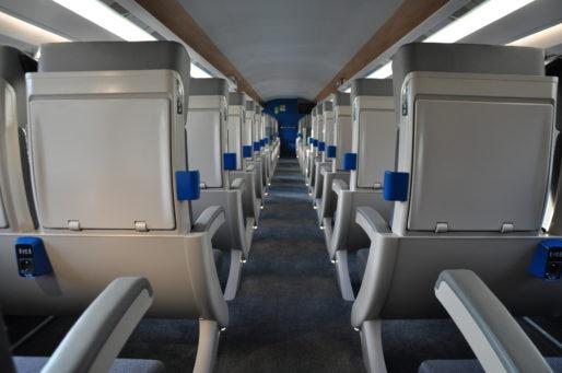 Sièges de seconde classe dans le TGV l'Océane (XR/Rue89 Bordeaux)
