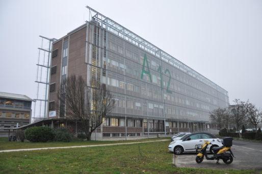 Façade bioclimatique du bâtiment A12 de l'Université de Bordeaux (XR/Rue89 Bordeaux)