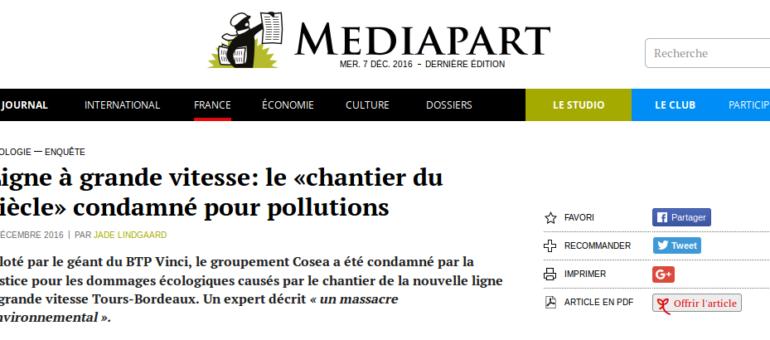 Comment la LGV Tours-Bordeaux est devenue «un massacre environnemental»