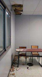 Plafond écroulé dans un préfabriqué de l'Université de Bordeaux (DR)