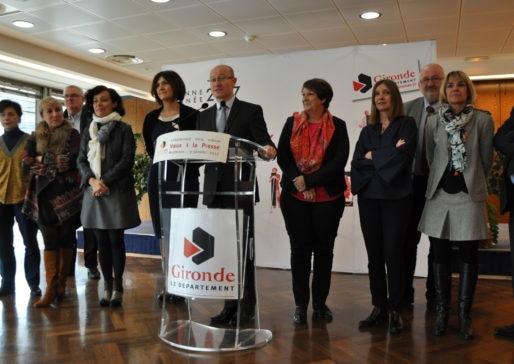 Jean-Luc Gleyze, lors des voeux à la presse le 9 janvier 2017 (XR/Rue89 Bordeaux)