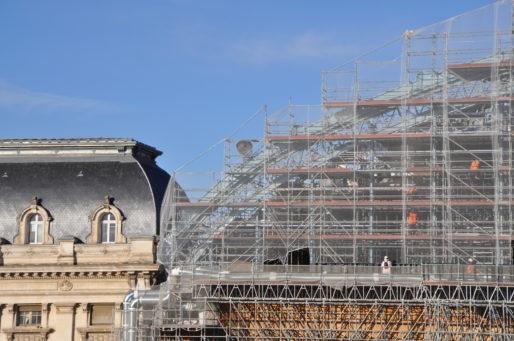 Travaux en novembre dernier sur le toit de la Gare Saint-Jean de Bordeaux (XR/Rue89 Bordeaux)