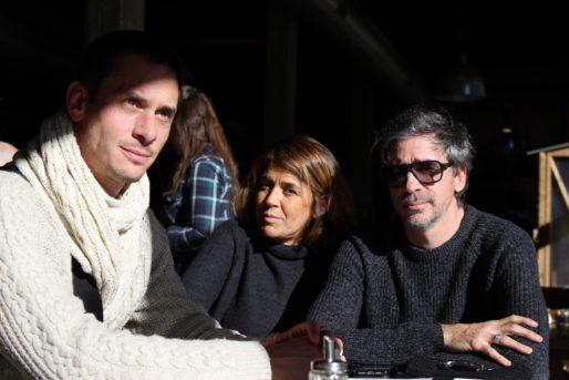 Aurélien Gaucherand, le président de la 58é, Nathalie Bois-Huyghe la présidente du lycée alternatif et Philippe Barre, l'un des fondateurs de Darwin (AC/Rue89 Bordeaux)