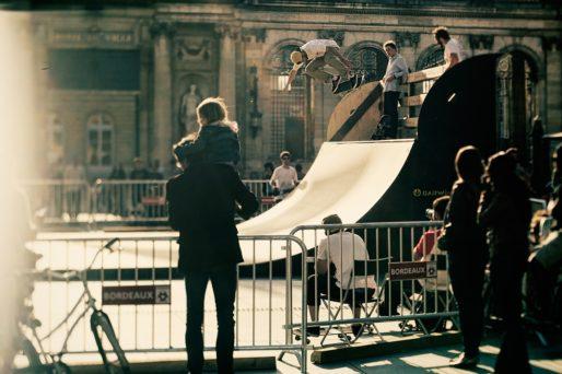 Bordeaux Cité Skate, en 2012, place Pey-Berland (David Manaud/DR)