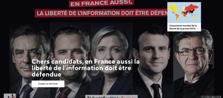 Liberté, égalité, informés : la presse interpelle les candidats à la Présidentielle