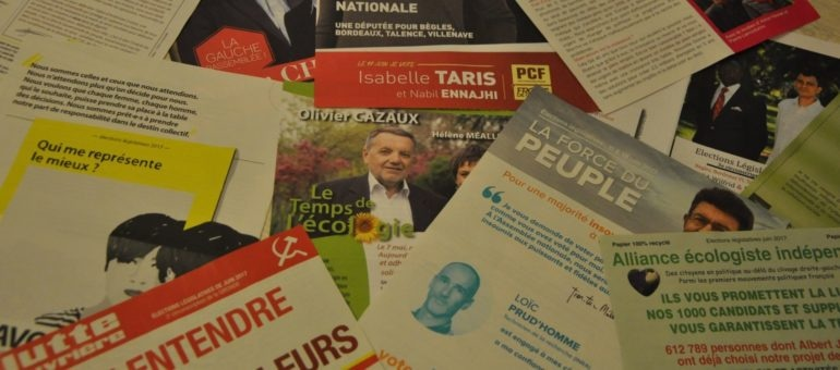 Gironde : mais pourquoi manque-t-il des professions de foi de candidats ?