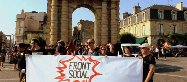 A Bordeaux, le Front social manifeste «contre la casse du code du travail»