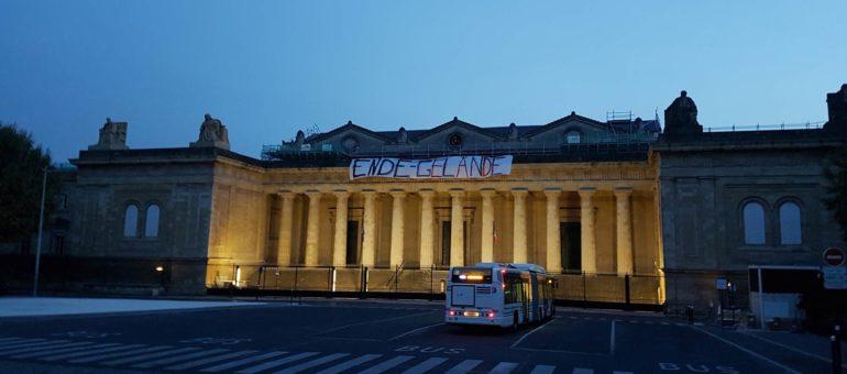 Pour le climat, «Ende Gelände» sur le palais de justice de Bordeaux