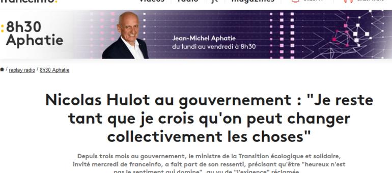 Nicolas Hulot lâche les projets des LGV mais pas pour des raisons écologiques