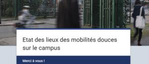 Enquête : Et toi, tu te déplaces comment sur le campus ?