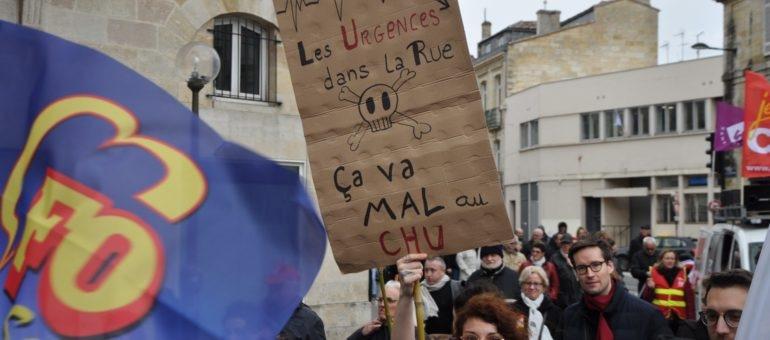 Une centaine de soignants de Pellegrin et Saint-André font front commun