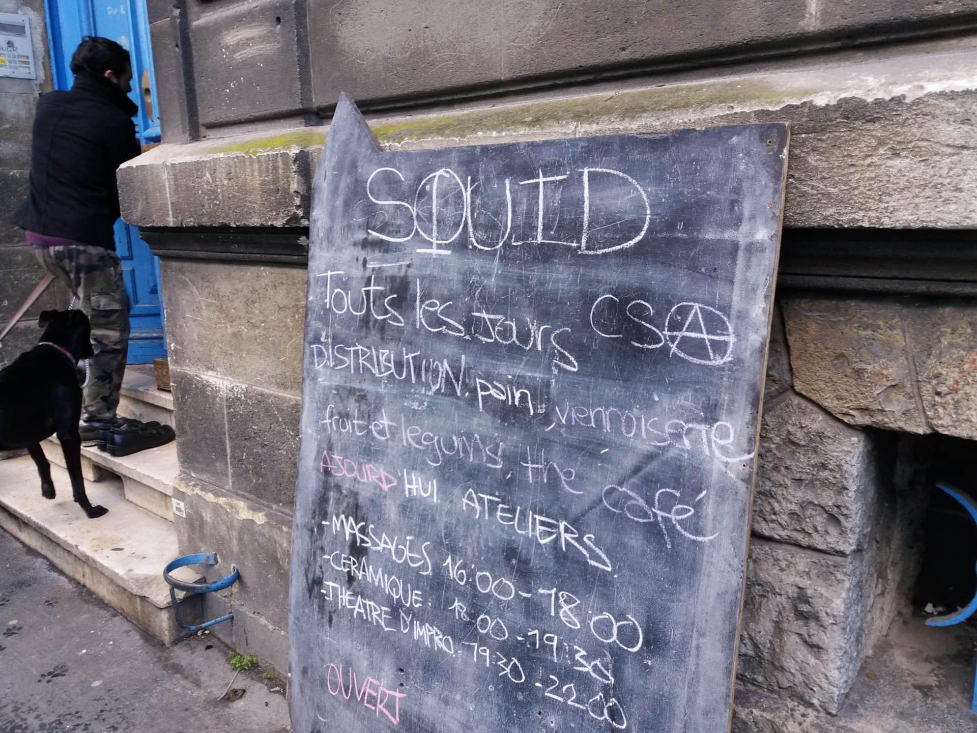 Squat et centre social autogéré le Squid secoue les autorités