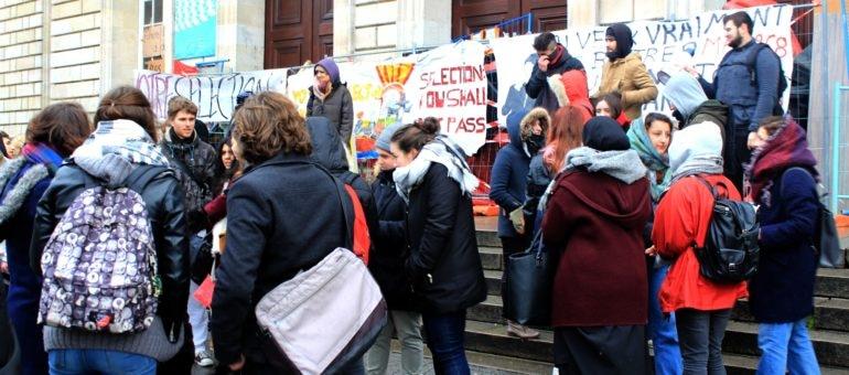 Contre la sélection, des étudiants se mobilisent à Bordeaux
