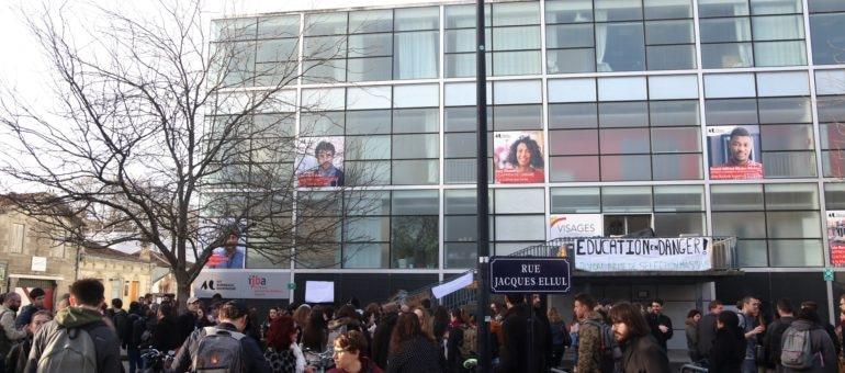 Université Bordeaux-Montaigne : l'IUT est bloqué, la présidente dénonce la sélection