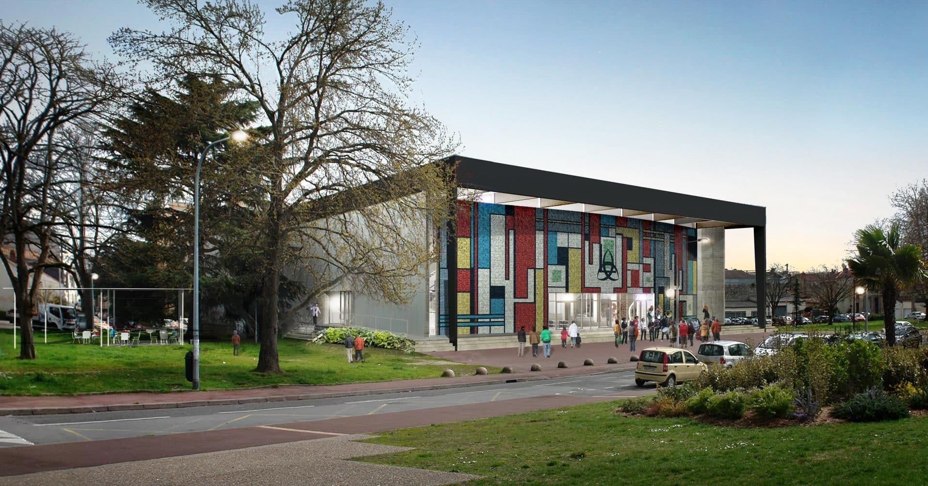 La Salle Des Fetes Du Grand Parc Une Exposition Avant L