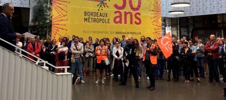 Les agents de Bordeaux Métropole mobilisés contre le nouveau régime indemnitaire