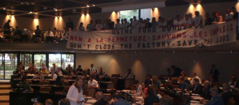 Les Ford perturbent le conseil de Bordeaux Métropole