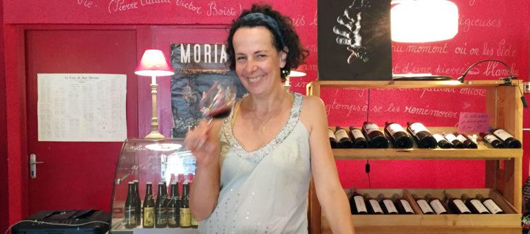 Sandrine Jacotot, vendeuse de vins de vies