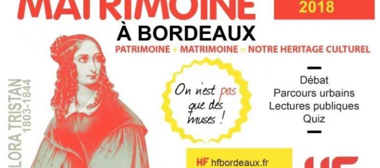 Journées du Matrimoineà Bordeaux : dans le pas de celles qui ont fait l'Histoire