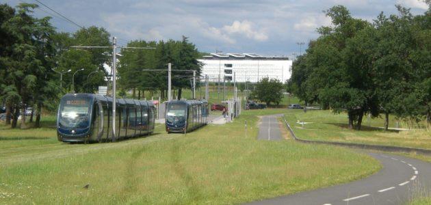Terminus Pellegrin pour le tram de Gradignan, exit Cenon et les boulevards