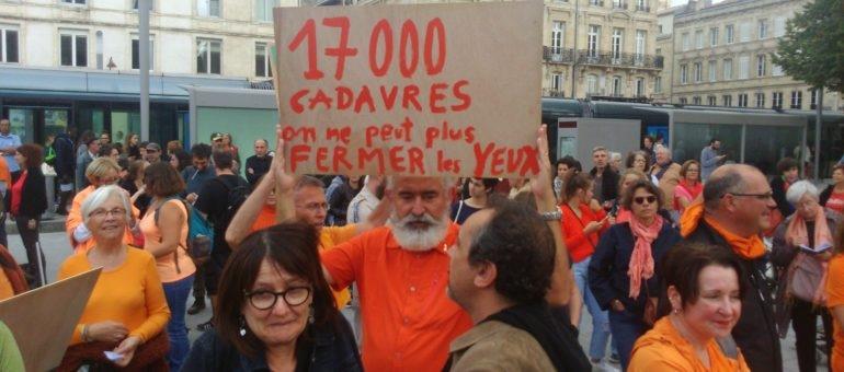 Plus de 700 personnes à Bordeaux pour l'Aquarius et SOS Méditerranée