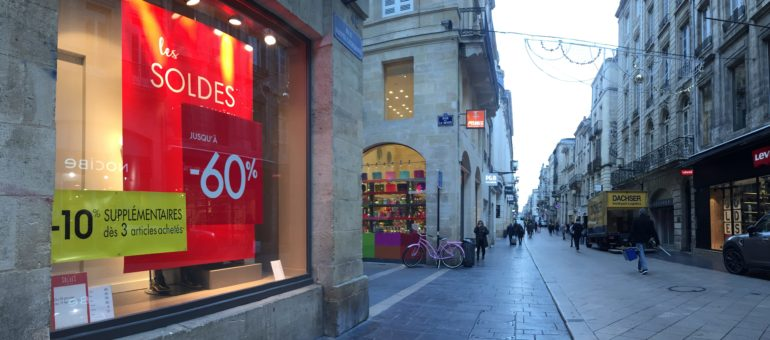 Des soldes en mode S.O.S pour des commerçants bordelais en détresse