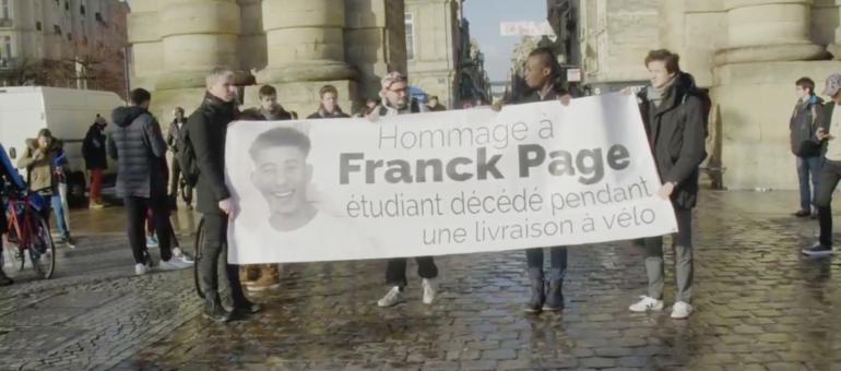 Hommage à Franck Page : «Ce n'est pas normal de mourir dans le cadre d'un job étudiant»