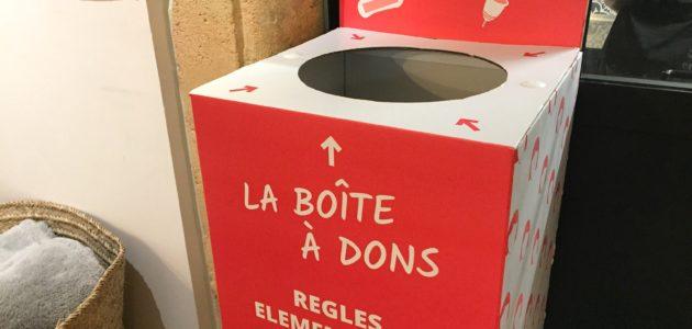 A Bordeaux, des dons pour soulager la précarité menstruelle