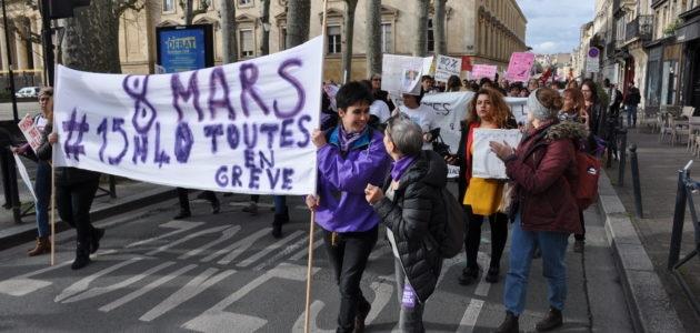 8 mars : Les Bordelaises dans la rue pour faire entendre leurs droits