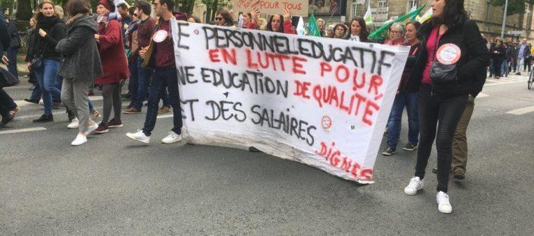 2000 manifestants à Bordeaux contre la réforme de la fonction publique