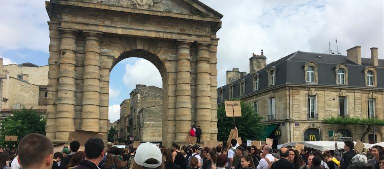 La deuxième grève pour le climat mobilise moins à Bordeaux