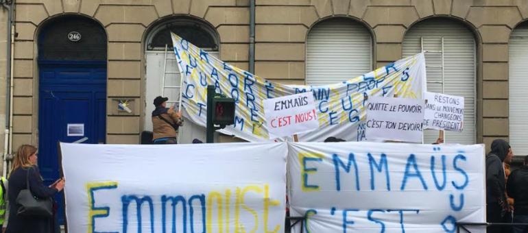 Manifestation d'Emmaüs Gironde : la colère partagée des employés