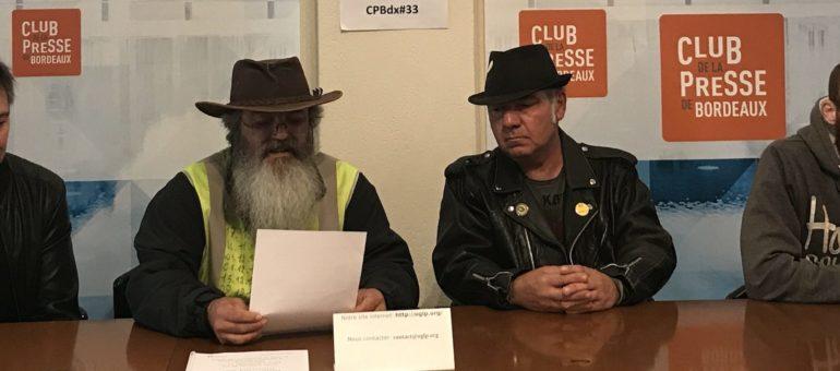 Les Gilets Jaunes de Gironde dénoncent de «graves dérives» des forces de l'ordre