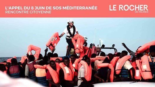 8 juin : L'appel de SOS Méditerranée au Rocher de Palmer