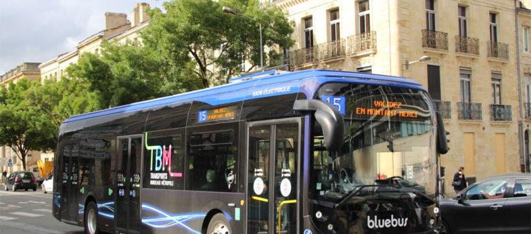 Le Bluebus de Bolloré, premier en piste pour tester son bus électrique à Bordeaux Métropole