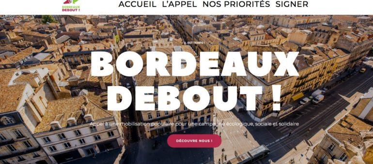 Les Insoumis lancent Bordeaux Debout, «liste citoyenne» pour les municipales