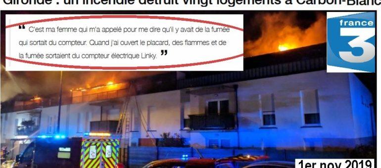 Le compteur Linky sur le grill après l'incendie de Carbon-Blanc ?
