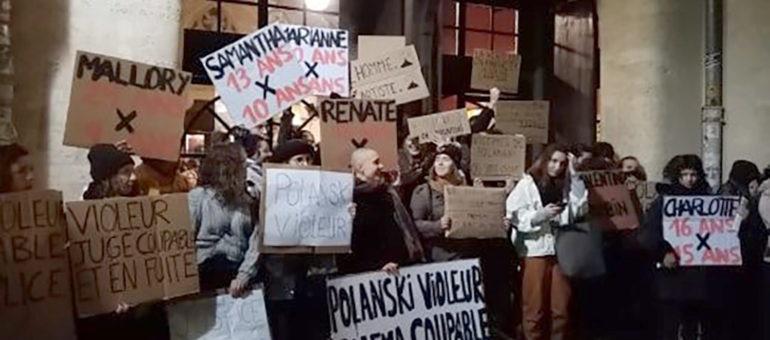 Des féministes s'opposent à la projection du film de Roman Polanski à l'Utopia