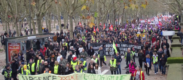 Nouvelle mobilisation massive à Bordeaux contre la réforme des retraites