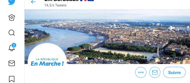 A qui appartient ce compte twitter En Marche qui parasite la campagne de Thomas Cazenave à Bordeaux ?