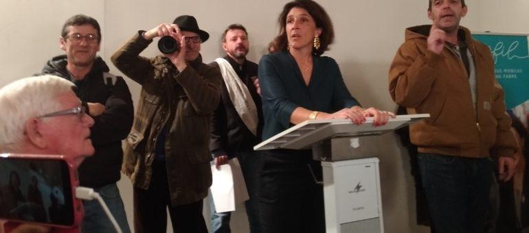 Les vœux de la députée marcheuse Catherine Fabre bousculés par des opposants à la réforme des retraites